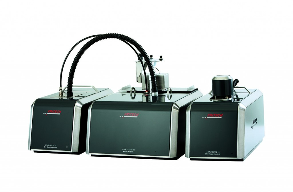 Fritsch's Analysette 22 MicroTec - Micro Laser Sizer with Extra-wide Measuring Range