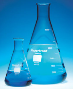 Fisherbrand™ Wide Neck and Narrow Neck Conical Borosilicate Glass Erlenmeyer Flasks are graduated and available in a variety of sizes. Filter flasks also available.