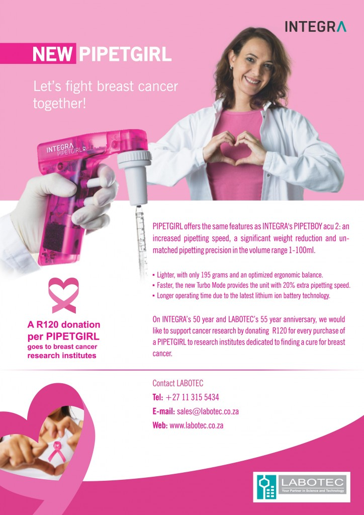 Integra - New Pipetgirl - Lets fight Breast Cancer Together